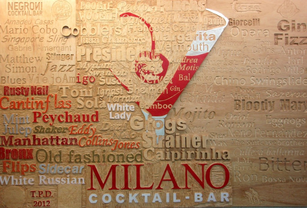 Cuadro expuesto en Milano Cocktail-Bar