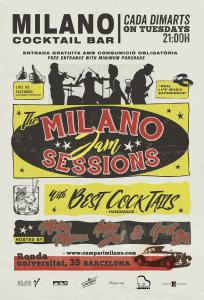 el próximo 3 de enero de 2017 se pondrá en marcha en el Milano una jam de blues y jazz coordinada por dos de los mejores músicos que actúan de forma habitual en nuestro escenario: el bajista Matías Míguez y el baterista Anton Jarl.